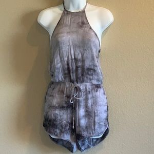 Halter Ty-dyed Romper - Size S